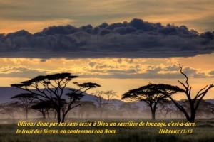 Hébreux 13:15